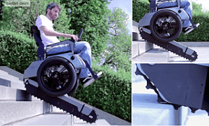 SCALEVO STAIR CASE CLIMBING WHEEL CHAIR WITH TREAD