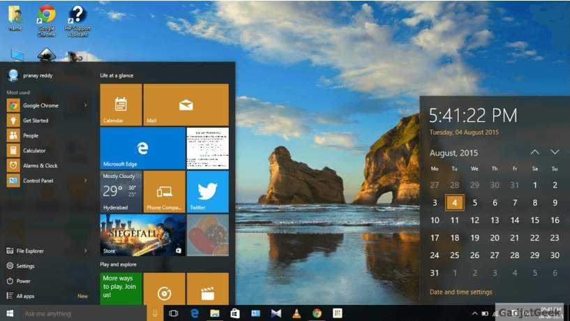 windows 10 desktop screen