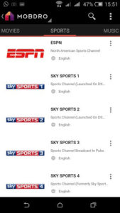 Mobdro TV Free Sports