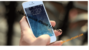 How to unlock iPhone 7 for free 2017
