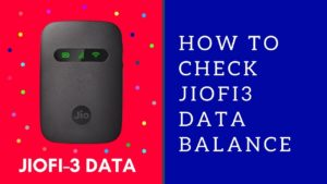 How to check jiofi data usage in pc