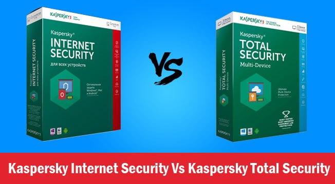 Kaspersky internet security vs Total security