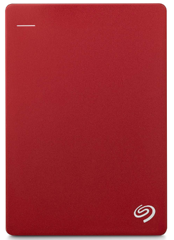 Seagate 1TB Backup Plus Slim (Red) USB 3.0 External Hard Drive for PC